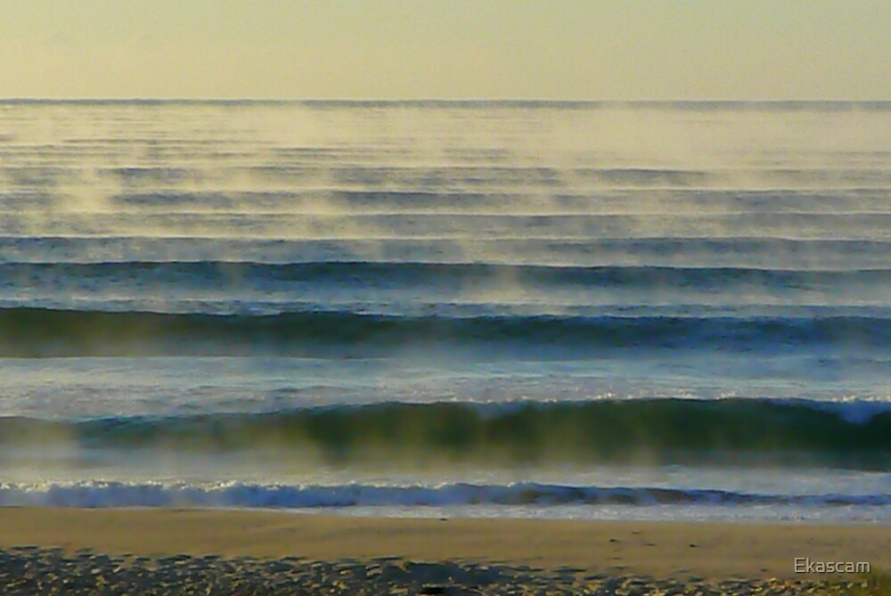 MISTY OCEAN WAVES by Ekascam