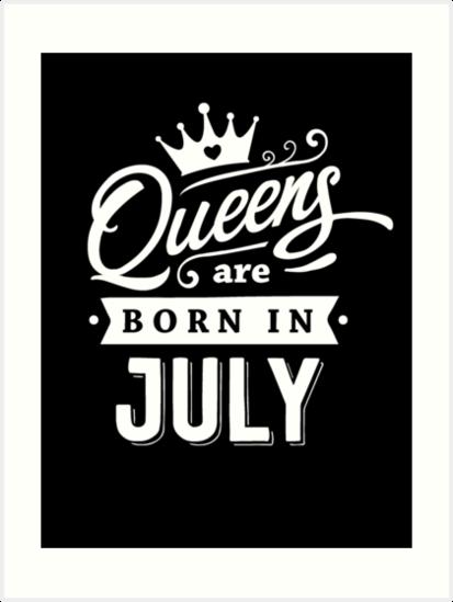 Láminas artísticas «Queens nace en julio - ¡Blanco sobre negro ...