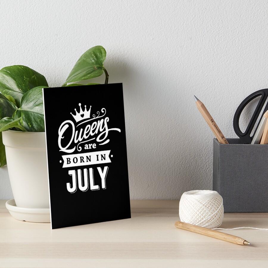 Láminas de exposición «Queens nace en julio - ¡Blanco sobre negro ...
