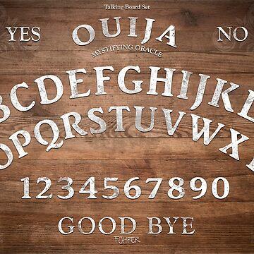 Mystifying Oracle White (ouija board) Horizontal by FuhrerDoodles