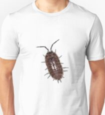 A woodlouse isolated on a white background. T-Shirt