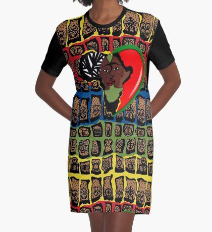 I Am Wakanda Graphic T-Shirt Dress