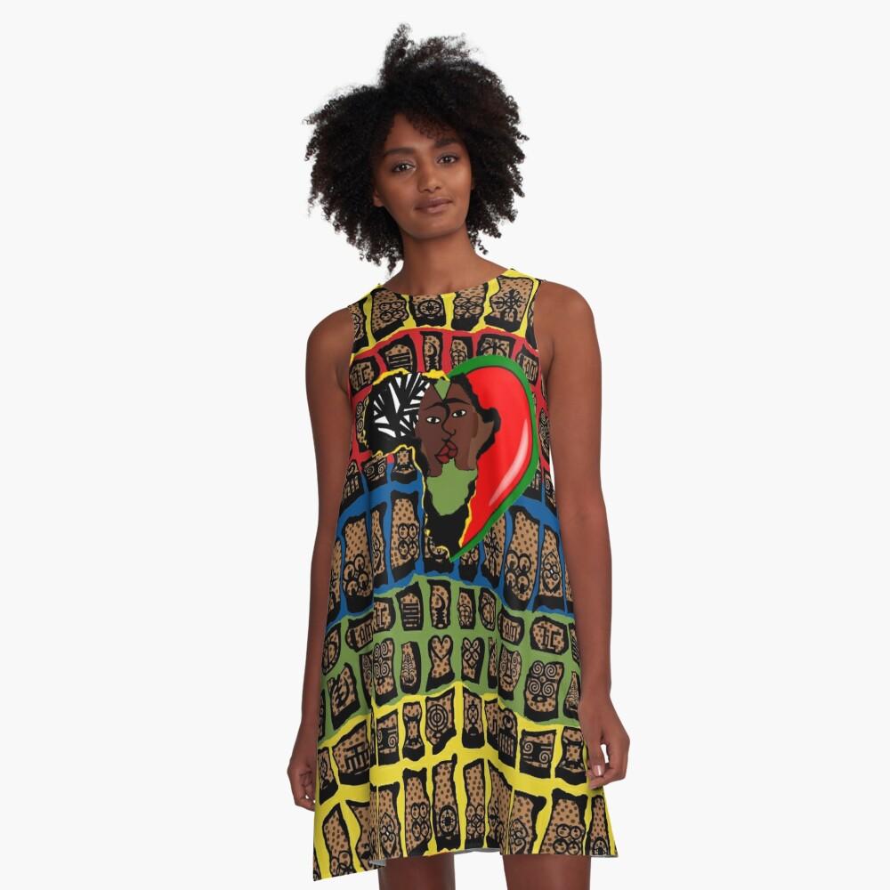 I Am Wakanda A-Line Dress