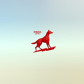 Love Freo, Fremantle Dingo dog Flour logo icon. Australia by rolphenstien