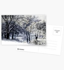 Winter Figure Skating Postcards