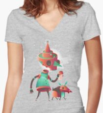 Skelly & Blep Women's Fitted V-Neck T-Shirt