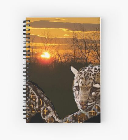 Fire Leopard Spiral Notebook