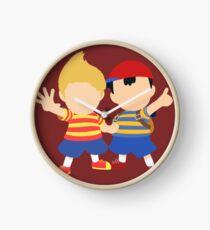 Ness & Lucas (Red) - Super Smash Bros. Clock