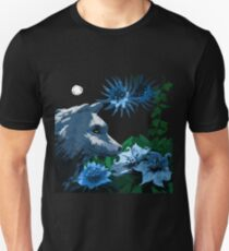 White Wolf in a Moonlit Garden T-Shirt