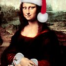 Mona Lisa Wearing a Santa Hat by Gravityx9