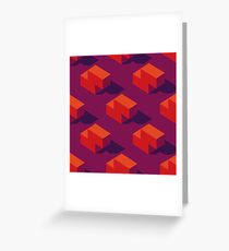 Seamless pattern of isometric tetris blocks. Greeting Card