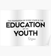 education of youth - diogenes Poster