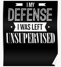 In My Defense I Was Left Unsupervised Poster