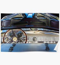 1955 Mercedes-Benz Gullwing Dashboard - Steering Wheel -0065c Poster