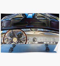 1955 Mercedes-Benz Gullwing Dashboard - Steering Wheel -0065c Poster