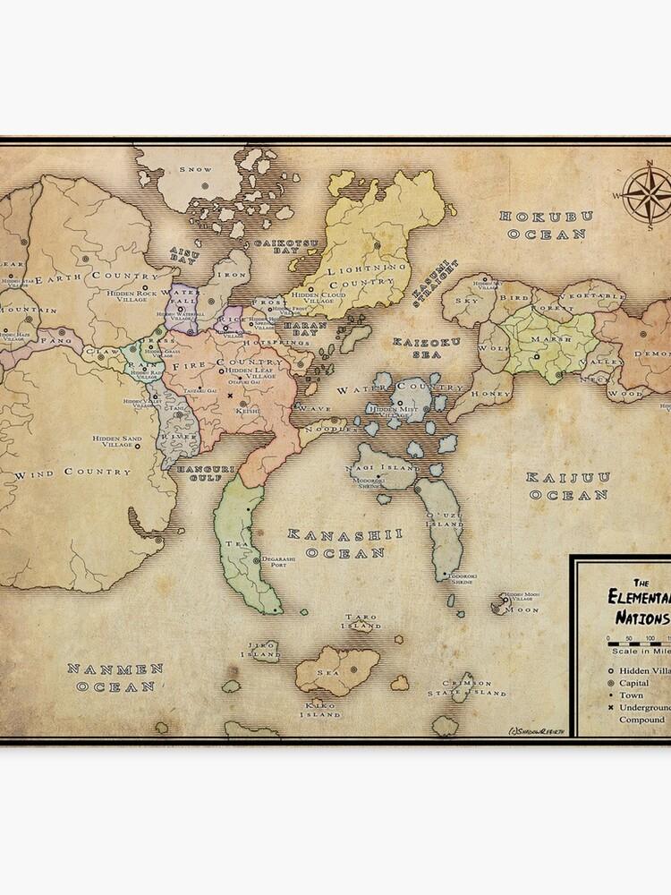 Naruto Map   Canvas Print