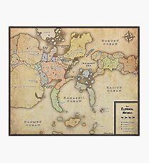 Naruto Map Photographic Print