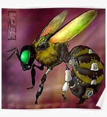 Steampunk Bumblebee Poster