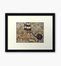 THE WEIGHT Framed Print