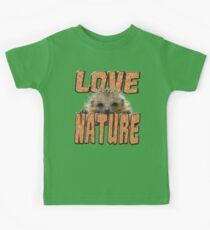 LOVE NATURE LOVE HEDGEHOGS Kids Tee