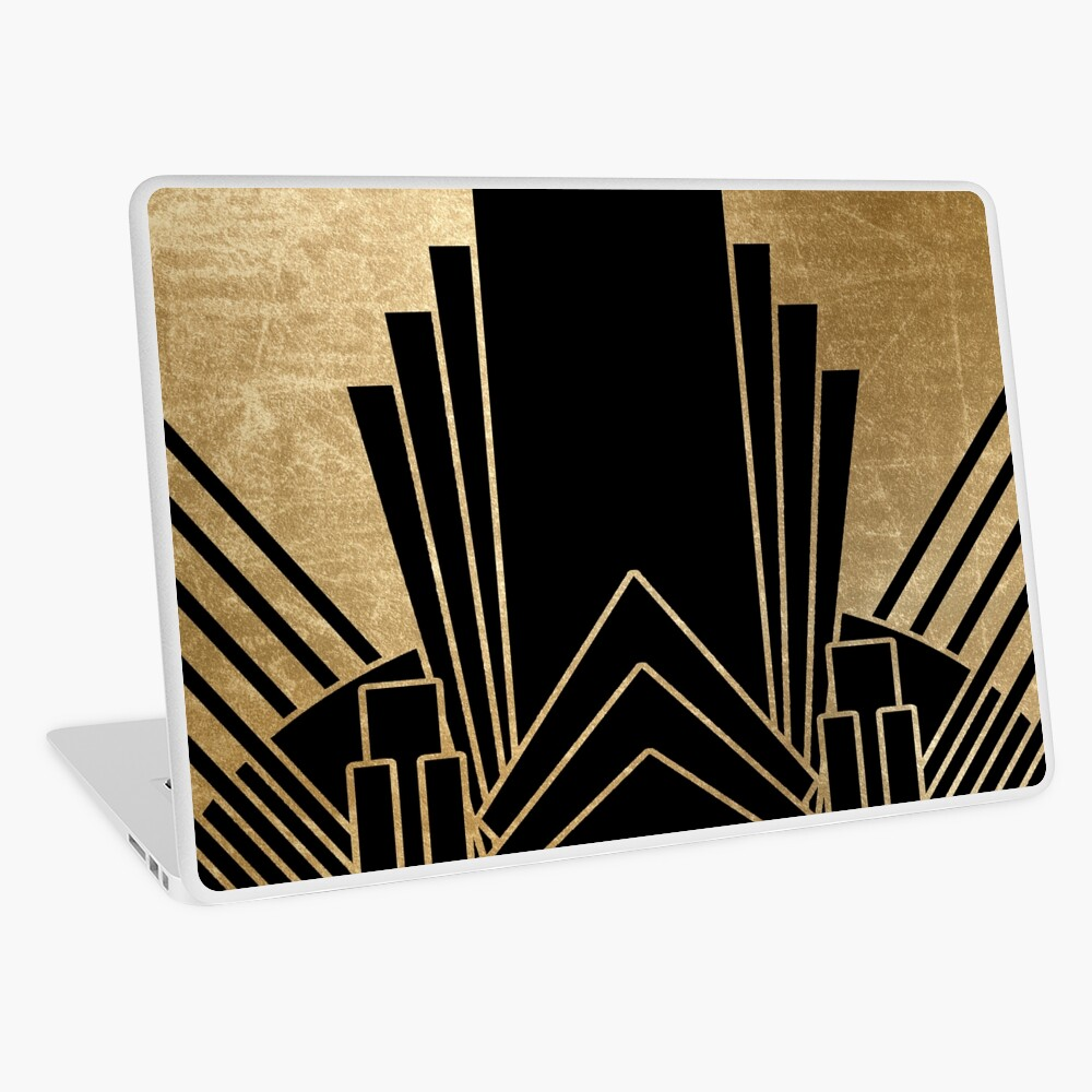 Art-Deco-Design Laptop Folie