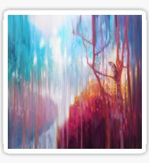 Light of the Jungle - a semi abstract forest landscape with tiger Sticker