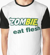 Zombie - Eat Flesh - Subway Parody Graphic T-Shirt
