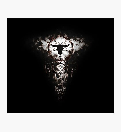 Summoning circle pentagram - Dreamcatcher Photographic Print