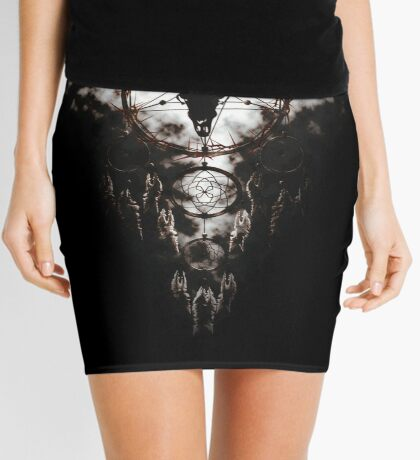 Summoning circle pentagram - Dreamcatcher Mini Skirt