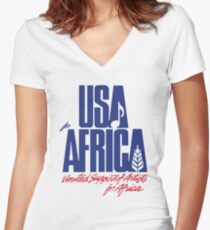 We Are the World Women's Fitted V-Neck T-Shirt