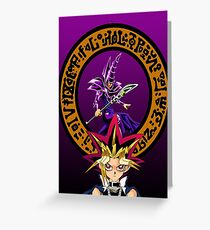 Yu-Gi-Oh! Yami and his Dark Magician Greeting Card