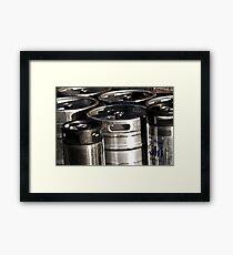 Beer Cans Framed Print