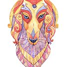 Saluki Totem - Watercolour by Jezhawk