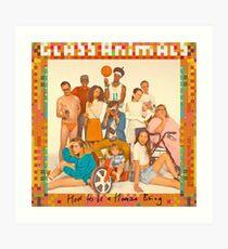 Glass Animals - album cover Art Print