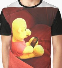 Teddy bear with a smartphone Graphic T-Shirt