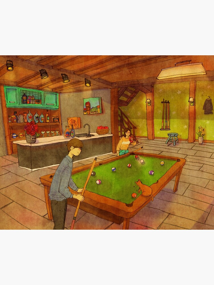 Playing pool by puuung1