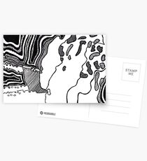 Black Abstract One Postcards