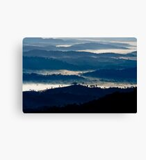Clouds nestle among mountains in southern Bahia, Brazil Canvas Print