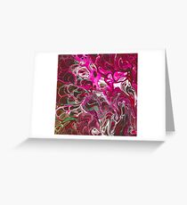 Hot pink purple paint pour Greeting Card
