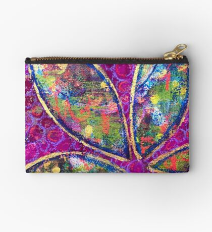 Time to Bloom - an Ahahata Codes infused intuitive painting Studio Pouch