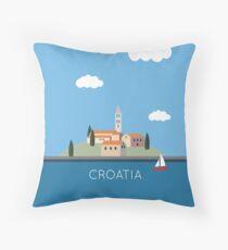 Sail Croatia Throw Pillow