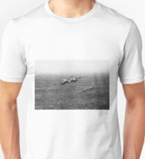 Mosquitos over the North Sea B&W version Unisex T-Shirt
