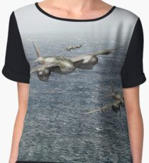 Mosquito fighter bombers over the North Sea Chiffon Top