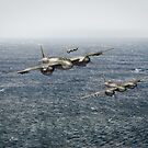 Mosquito fighter bombers over the North Sea by Gary Eason