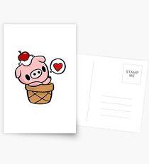 cute pig Postcards