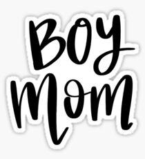 Boy Mom - hand lettered Sticker