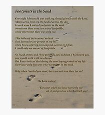 Foot Prints In The Sand Photographic Print