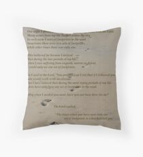 Foot Prints In The Sand Throw Pillow
