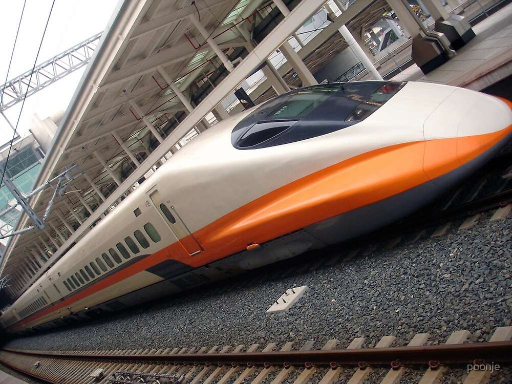 Bullet train , High Speed up to 300 km  KaoHsiung Taiwan by poonje