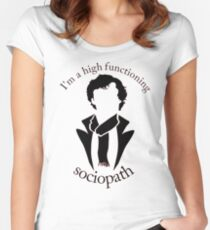 Sherlock - High Functioning Sociopath Women's Fitted Scoop T-Shirt